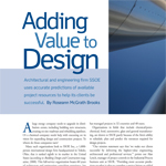 Adding Value To Design - SSOE Primavera Magazine Article